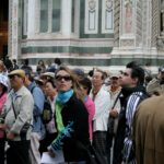 Photo of a crowd in Florence, Italy